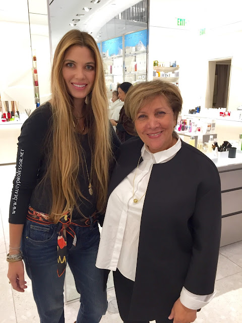 At the debut of her new eye products at barney s ny beverly hills