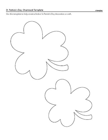 Scissors fabric glue decorate your cutie and yourself for Shamrock cut out template