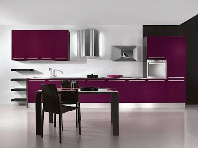 Kitchen Purple Design