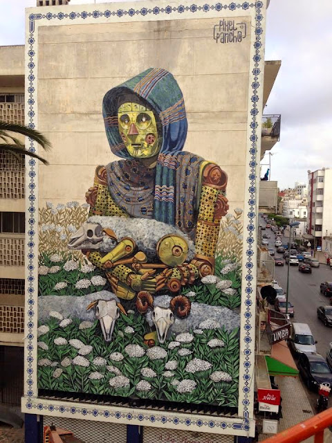 Our buddy the one and only legend of Turin aka Pixel Pancho recently spent some time in Morocco where he got the chance to work his magic on a massive building.