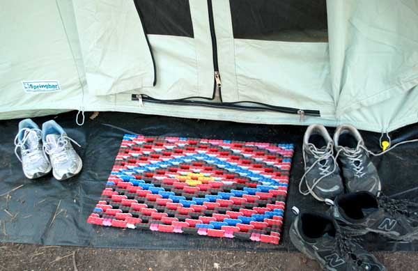 Keeping dirt OUT of the tent. A doormat ... & Artwife Needs a Life: The Art of Camping - Sanitation Station