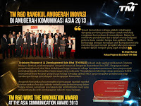 TM R&D Wins the Innovation Award at the Asia Communication Award 2013