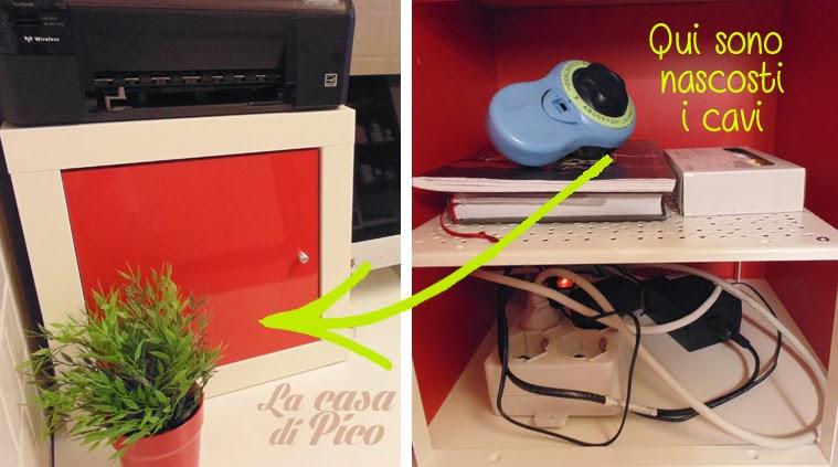 La casa di pico a new workstation for Lavagne magnetiche ikea
