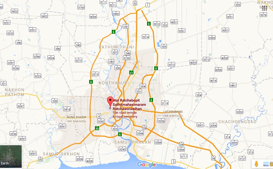 Royal Cemetery Bangkok Map Tourist Attractions in Bangkok – Thailand Tourist Attractions Map