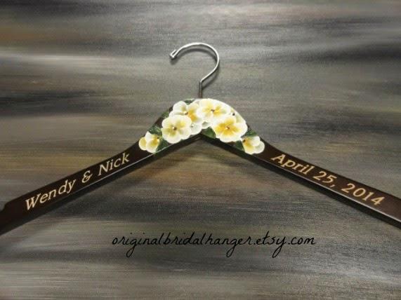 Custom Wedding Dress Hangers 24 Fancy My personalized hangers can