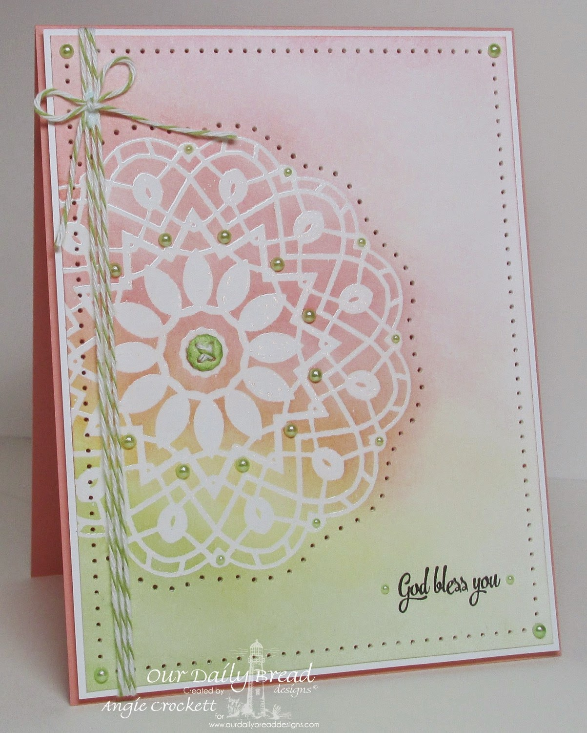 ODBD Doily Blessings, Card Designer Angie Crockett