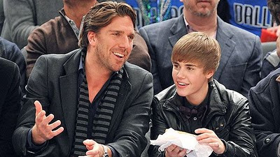 Henrik Lundqvist and Justin Bieber at a Feb. 2nd Knicks game