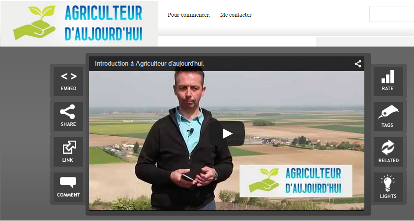 video agriculteur d'aujoud'hui