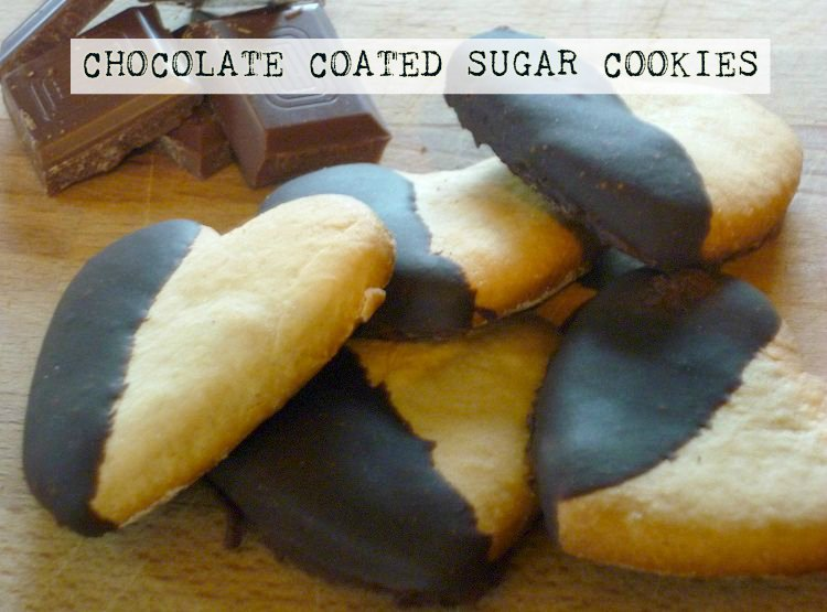 Chocolate Coated Sugar Cookies Rolling With Marbles