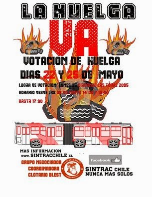 SANTIAGO:  SINTRAC CHILE, LA HUELGA VA