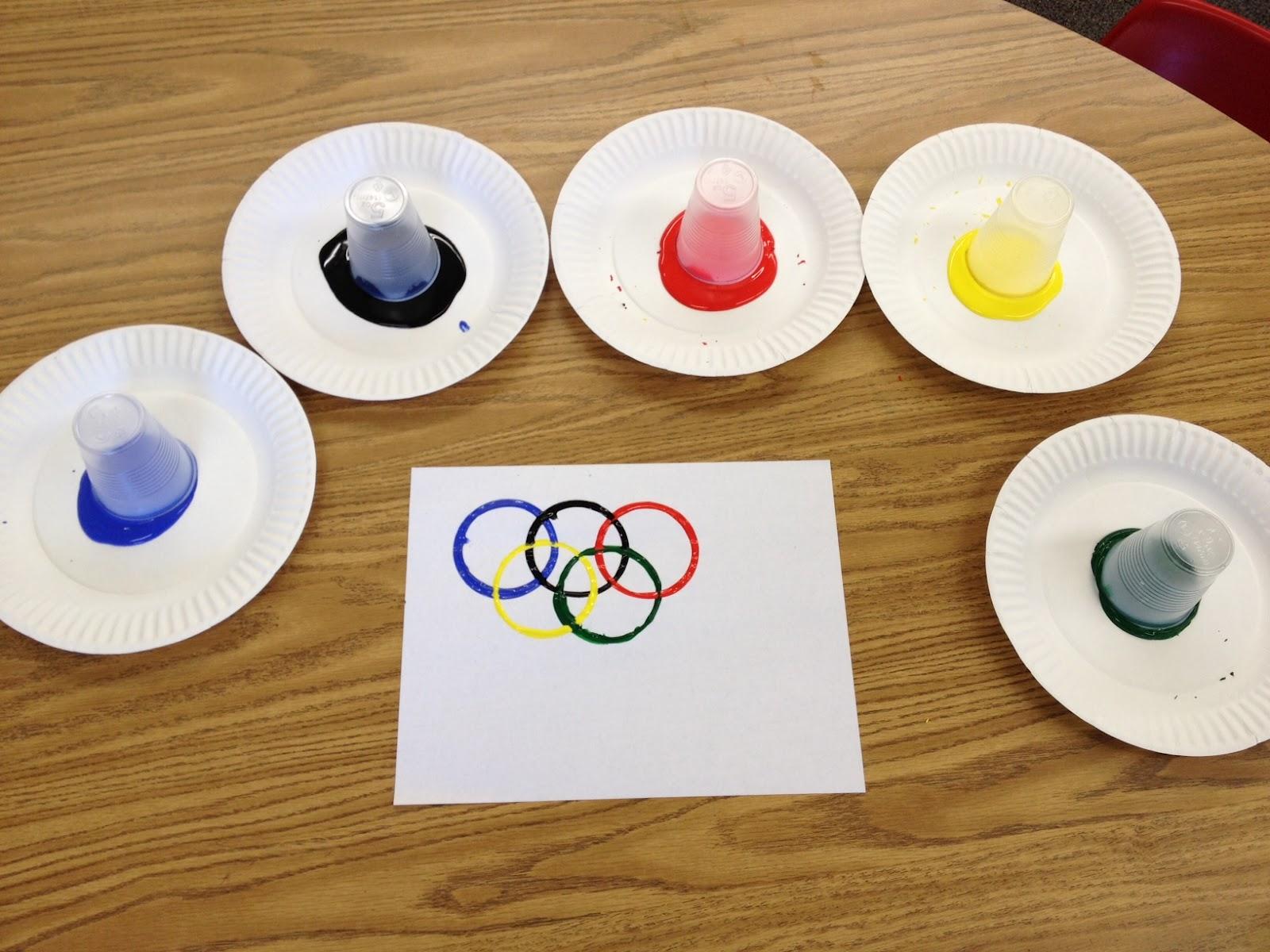 Поделка олимпийская медаль 11