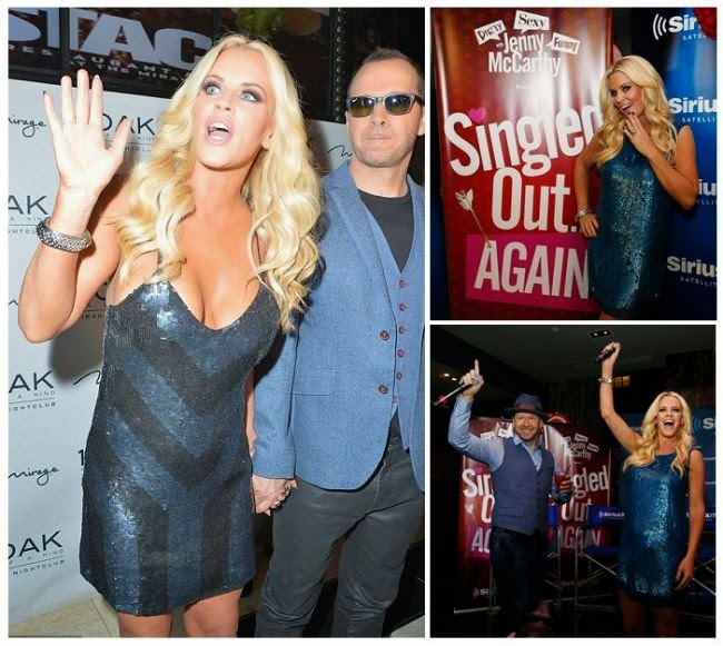 The 42-year-old displayed her fresh in a dark blue short dress with her long blonde hair exuded into a natural glow as she was snapped to enjoying the night with husband, Donnie Wahlberg at the 1 Oak night club in Las Vegas on Friday, February 13, 2015.