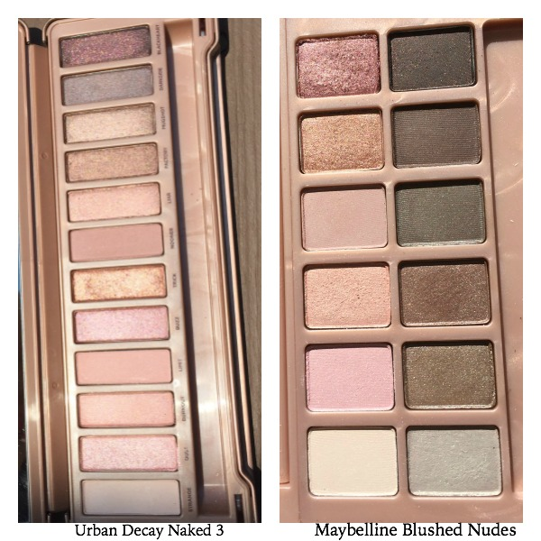 maybelline blushed nudes vs naked 3 urban decay