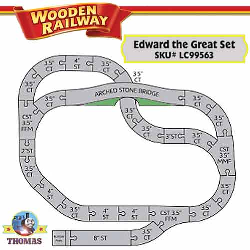 wooden train layout plans
