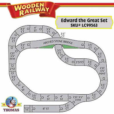 Toy Edward the Great railway track plan simple to play Thomas and friends wooden train track layouts