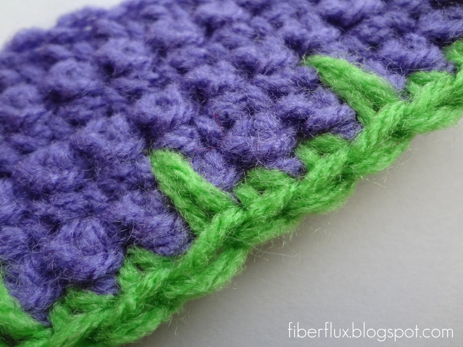 Crochet Uneven Edges : Fiber Flux: How to Crochet Blanket Stitch Edging