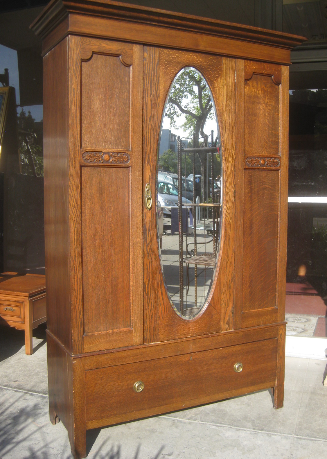 Marvelous photograph of UHURU FURNITURE & COLLECTIBLES: SOLD Antique Clothing Armoire $325 with #986133 color and 1126x1580 pixels