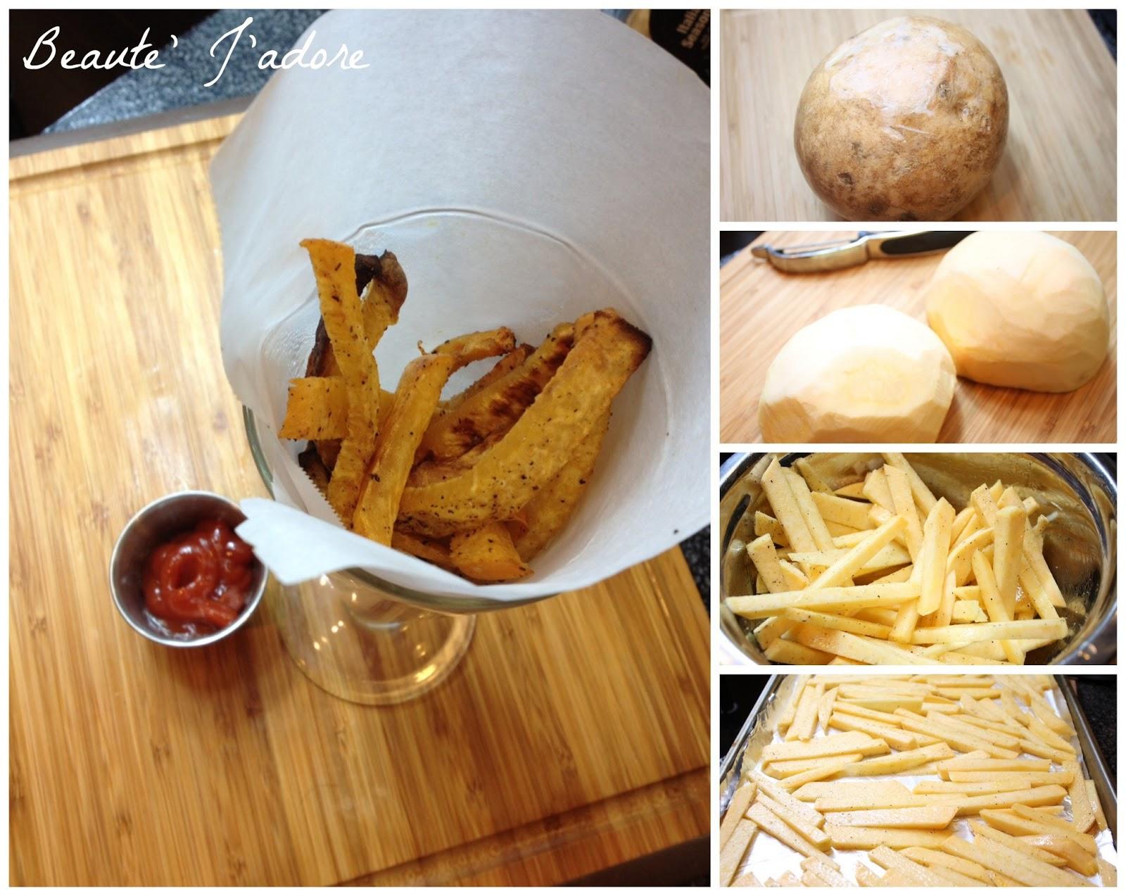 Guilt Free Rutabaga French Fries – Beaute' J'adore