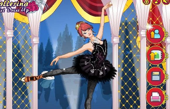 igrica oblačenje  balerine