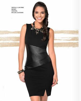 Outfits Vestidos de color negro para fiestas y compromisos (fotos)
