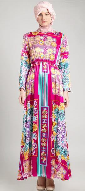 Contoh Gaun Dress Muslim Terkini