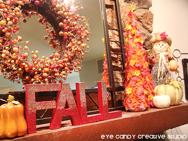 decorating for fall, mantel decor, fall letters craft, fall crafting, fall
