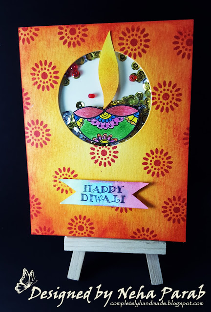 Completely Handmade Diwali Cards Day 5