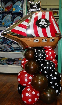 peirate party, peirate ship, peirate balloons,anagram foil balloons