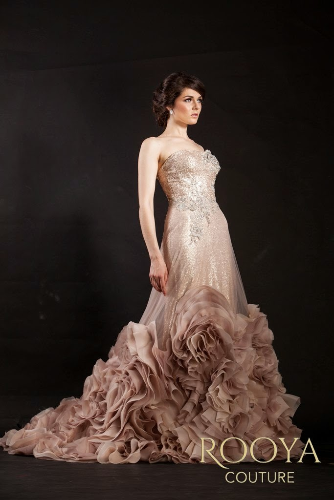 Rooya Couture: Rose Gold Gown Rooya Couture