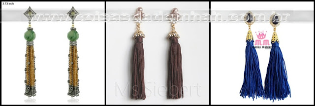 tassel franja brinco moda outono inverno 2012 primavera vero 2013