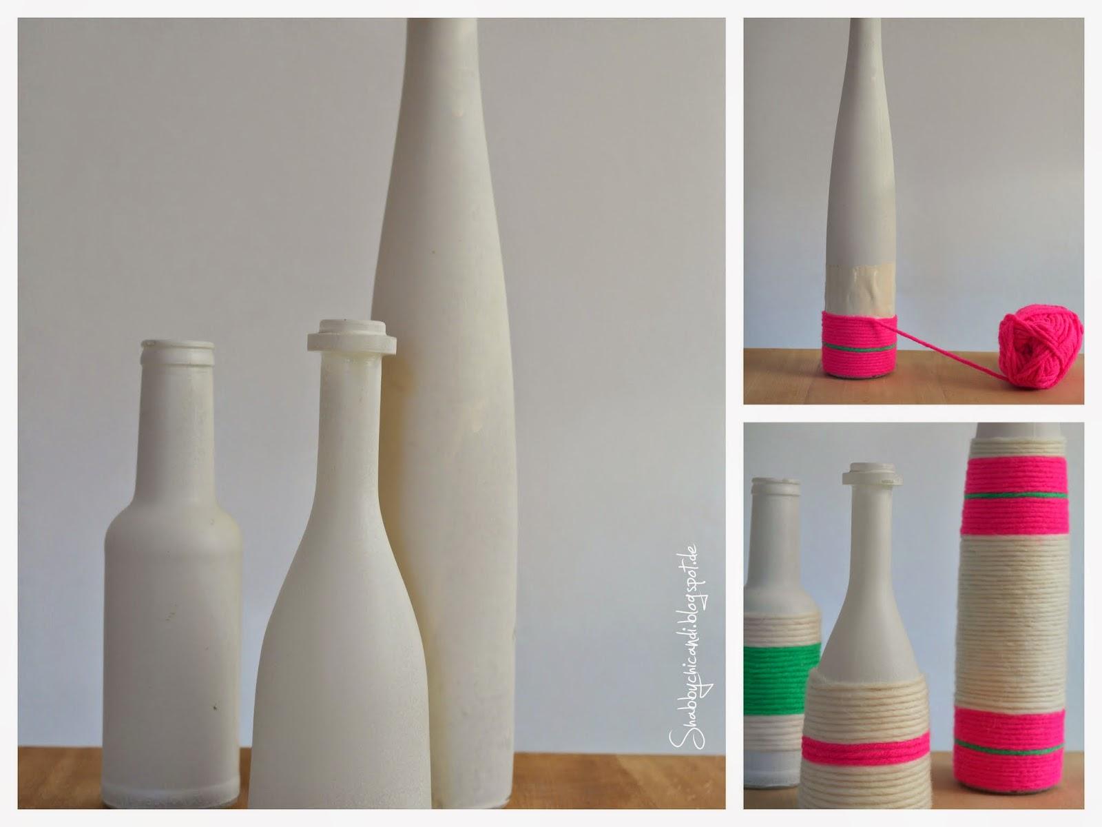 DIY Anleitung zum aufpeppen von Vasen