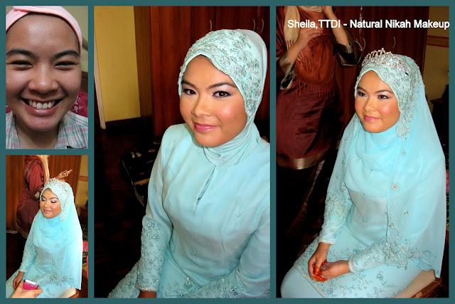 Natural nikah makeup for pengantin 2012