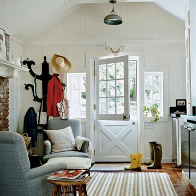 La la linen painted front doors by coastal living for Cottage back door