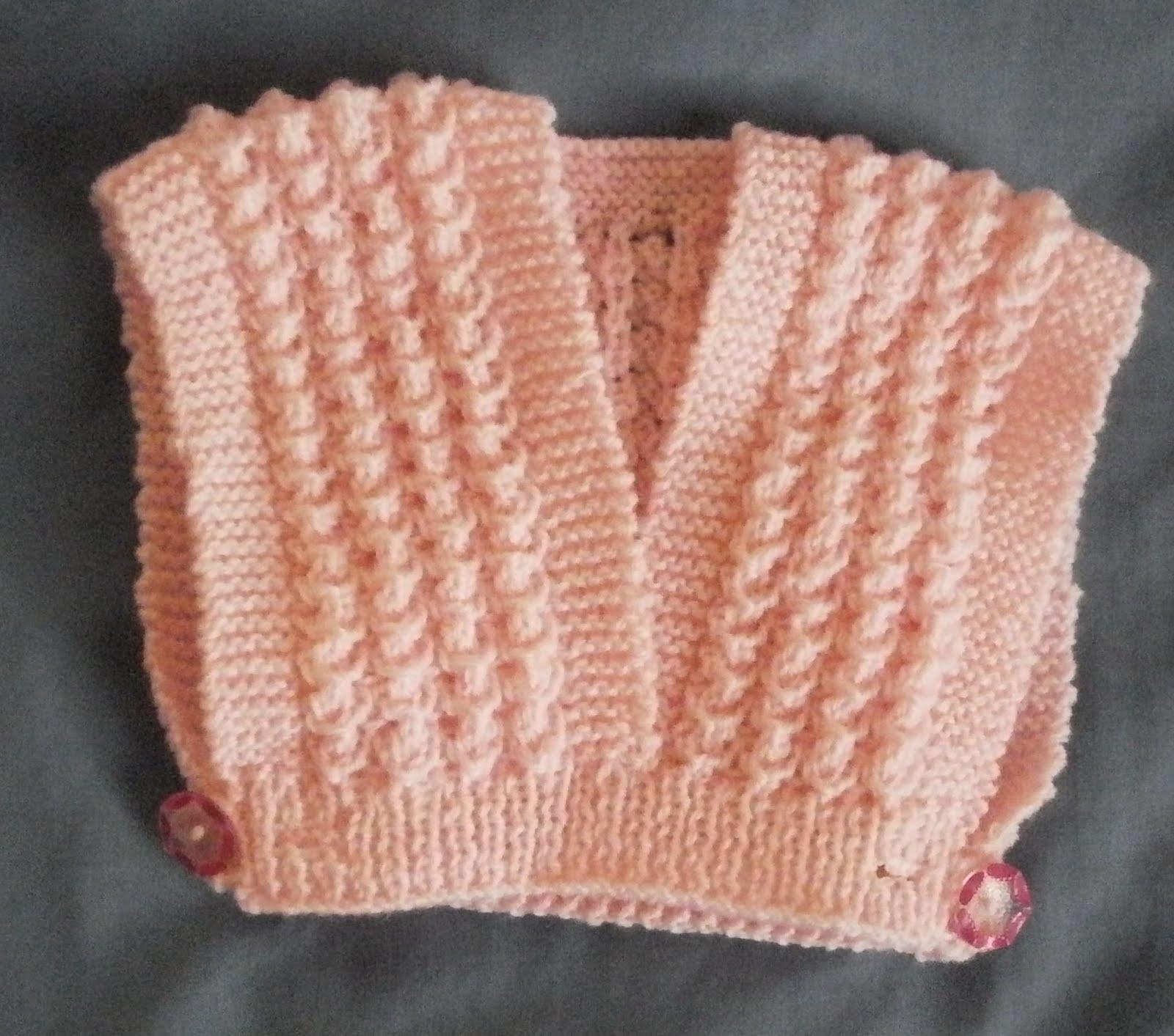 Petits doigts cache coeur b b - Point tricot fantaisie pour echarpe ...