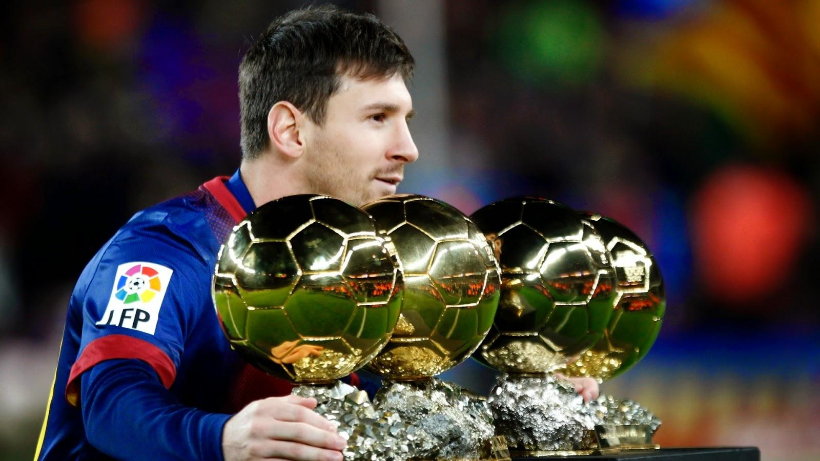 Lionel Messi Four Ballon