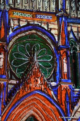 Reims - cathedrale - son et lumiere - rêve de couleurs