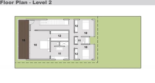 En el plano de la planta superior se encuentran los tres for Casa de 2 plantas y 3 habitaciones