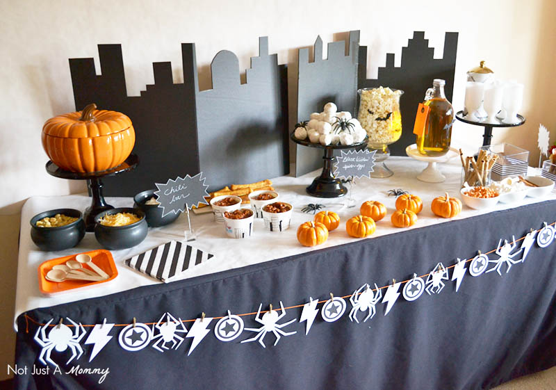 MARVEL's The Avengers: Age of Ultron Halloween Watch Party table