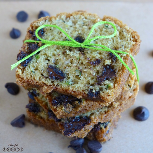 Chocolate Chip Zucchini Bread @ Blissful Roots