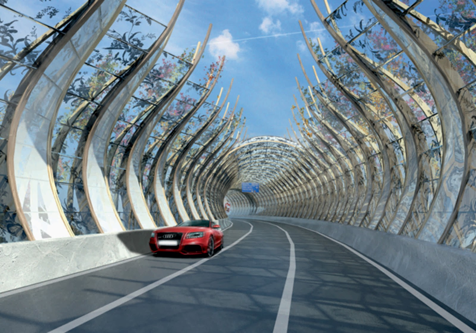 Highway noise barrier by bread studio