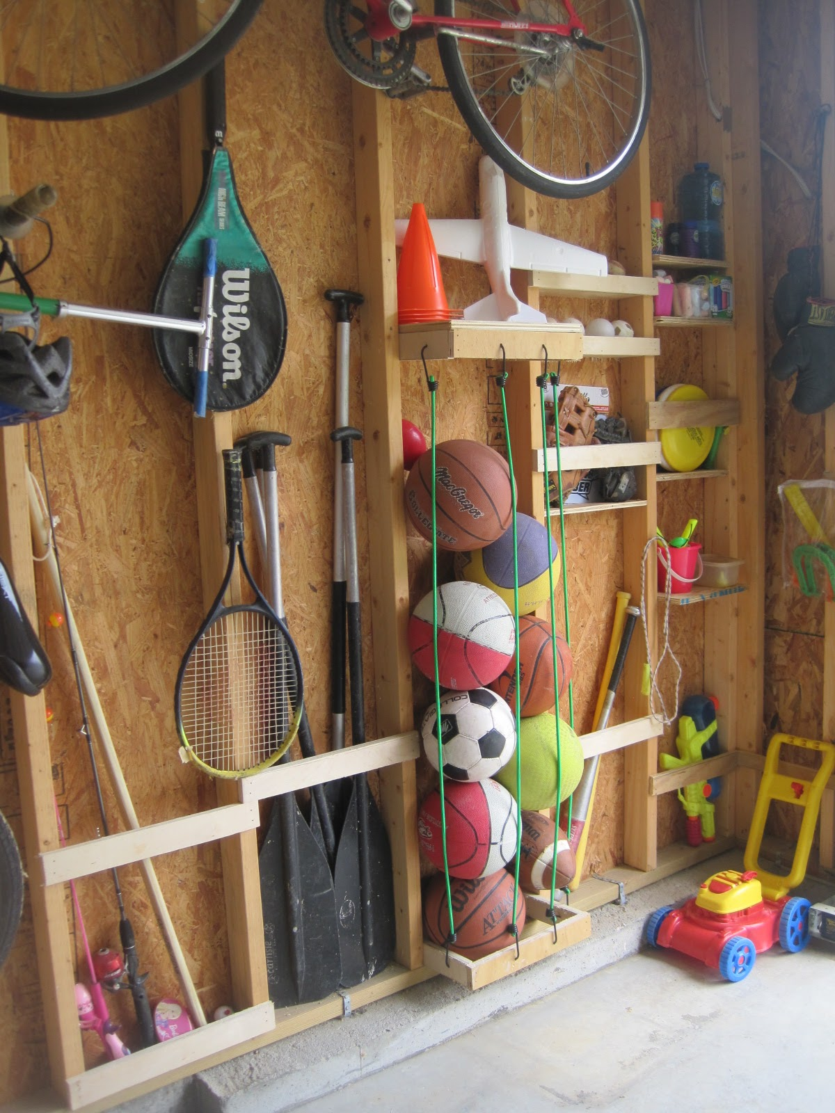 ball storage rack youtube watch organization garage