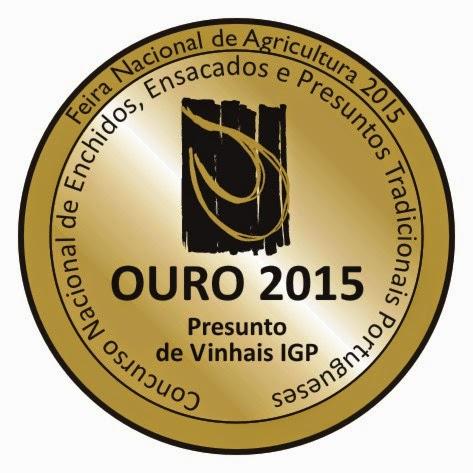 medalha de ouro presunto de vinhais IGP