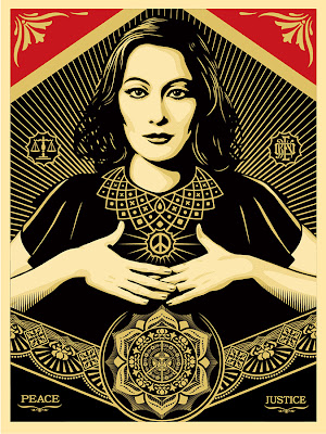 "Obey Giant ""Peace & Justice Woman"" Screen Print by Shepard Fairey"