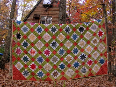 vintage eight point star quilt