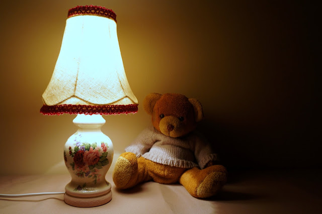 decoupage lampka noca