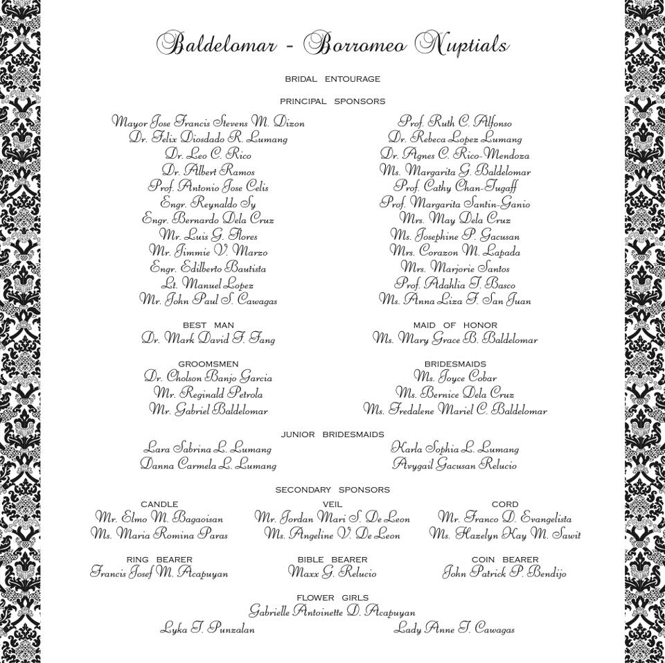 wedding invitation entourage sequence - 28 images - wedding ...