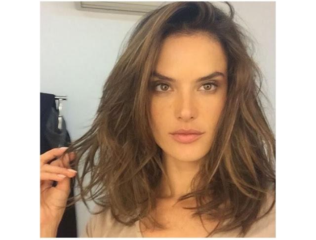 Alessandra Ambrósio de cabelo novo