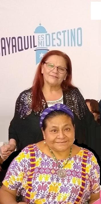 Mirta Praino junto a Rigoberta Menchu
