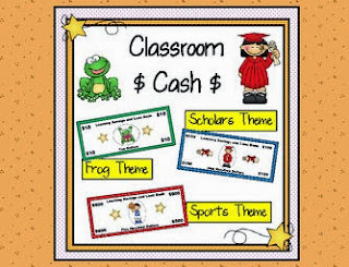 Classroom cash with frog, sports, and scholar's theme