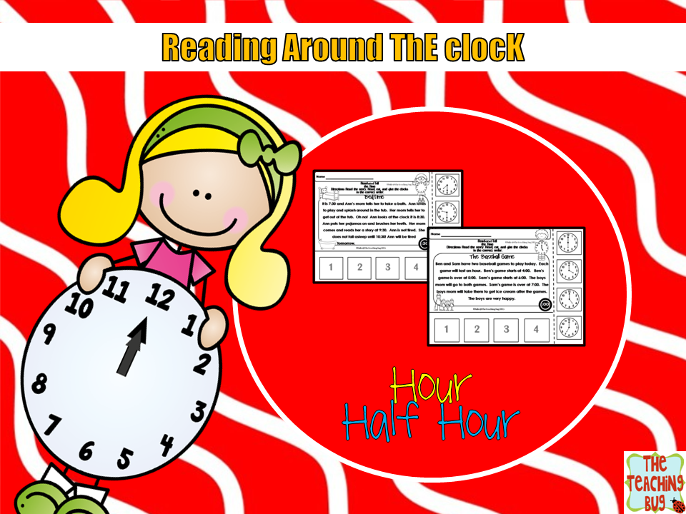 https://www.teacherspayteachers.com/Product/Telling-Time-reading-stories-hour-to-half-hour-1734765
